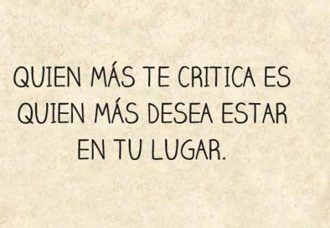 el por que te critican