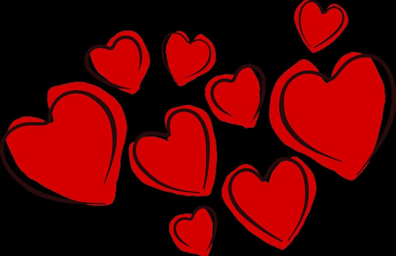 corazones flotando