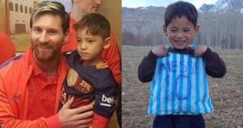 messi regala camiseta