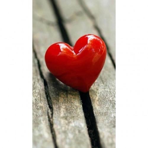 corazon de color rojo