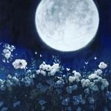 Un-fondo-de-luna-llena-y-flores-muy-bella